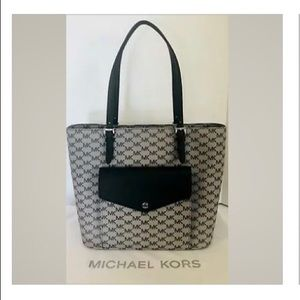 🌺Michael Kors Jet Set Large Pocket Signature Tote